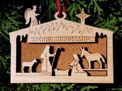 Manger Scene Dan River reclaimed flooring ornament