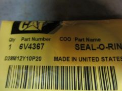 Caterpillar 6V4367 Seal O Ring