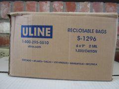 6x9 Zip Bags (from Uline)