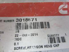 Cummins Hex Head Cap Screw 3018671/3018671CUM