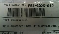 Paccar Engine Belt Routing Label F53-1025-012