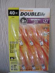 40 watt candelabra bulbs (6 pack)