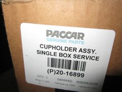Paccar Black Cup Holder 20-16899