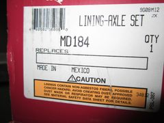 Meritor MD184 Brake Pads/Lining Axle Set