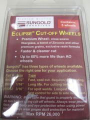 "Sungold Eclipse Cut Off Wheels 3"" x 1/16"" - 99087"