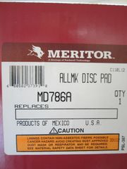 Meritor MD786A Lining-Axle/Disc Pad