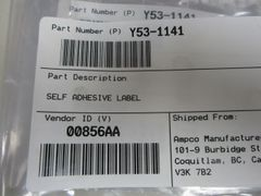 California MX Engine Label Y53-1141