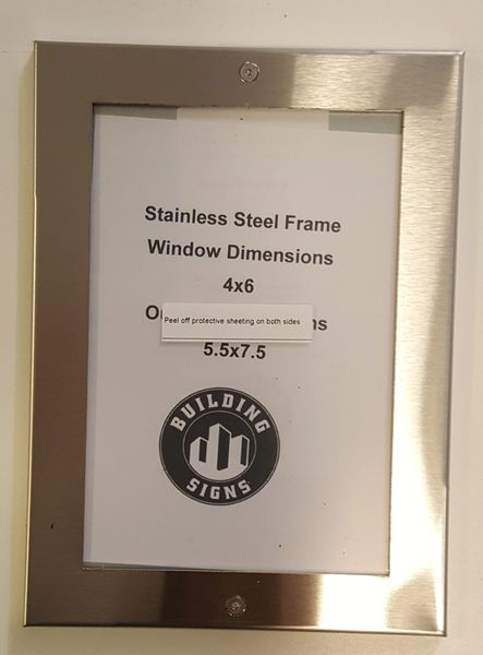 Nyc Elevator Frame Stainless Steel 4 X 6 Dob Signs Nyc Your
