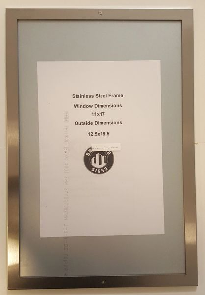 Nyc Elevator Certificate Frame Stainless Steel 11 X 17 Dob