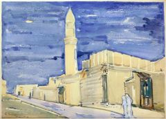 "#206 Old Street, Kuwait/63 - 21""x15"", Watercolour on paper"