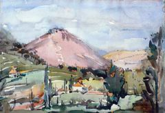 """#204 Ayoun El Wadi, Syrie - 19""""x13"""" Watercolour on paper"""