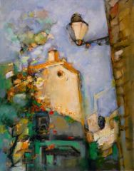 "#136 Vieux Quartier Espagnol, Spain - 22""x28"", Acrylic on stretched canvass."