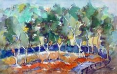 """#149 Sideways Forest - 19""""x12"""", Watercolour on paper"""