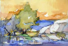 """#232 Bala, Ontario - 22""""x15"""", Watercolour on paper"""