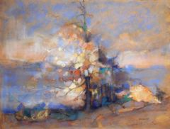 "#273 Tree In The Park, Toronto - 25""x19"", Chalk on paper"