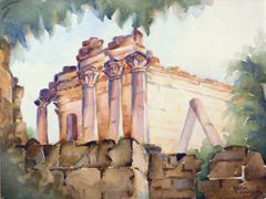 "#196 Palmyra, Syrie - 12""x9"" Watercolour on paper"