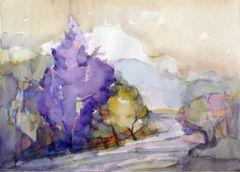 """#225 Purple North - 21""""x15"""", Watercolour on paper"""