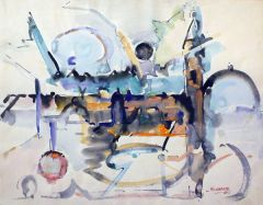 """#221 Abstract 221 - 18""""x14"""", Watercolour on paper"""