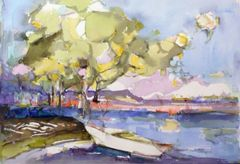 "#247 Honey Harbour, Ontario - 22""x15"", Watercolour on paper"