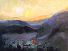 "#109 Sleepy Hollows, Alberta - 24""x18"". Oil on canvas-board"