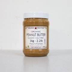 Organic Peanut Butter 1KG Unsalted Smooth