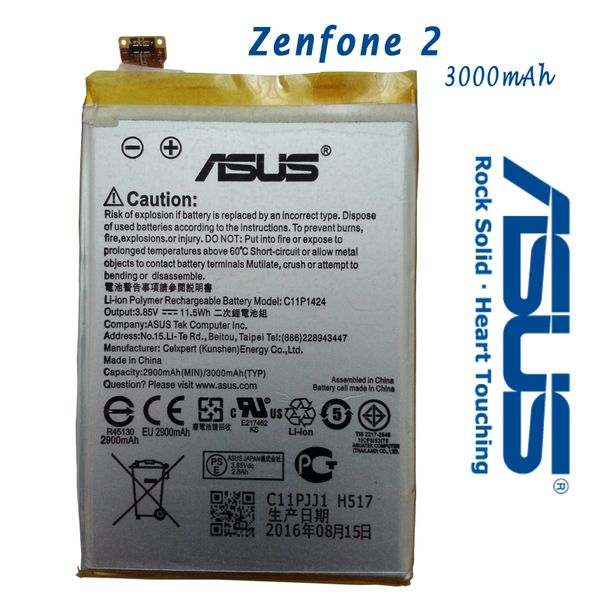 New Asus Zenfone 2 Battery C11P1424 Capacity 3000mAh ZE551ML ZE550ML