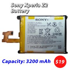 SONY Xperia Z2 Battery L50w Sirius SO-03 D6503 D6502 LIS1543ERPC Capacity: 3200mAh