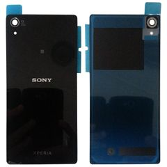 Sony Xperia Z1, Z2, Z3,Z4, Z3 Mini Series Battery Back Glass Cover with Adhesive Sticker (Black / White / Purple)