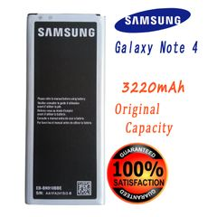 Samsung Galaxy Note 4 Battery, N910 Series EB-BN910BBE Capacity: 3220mAh