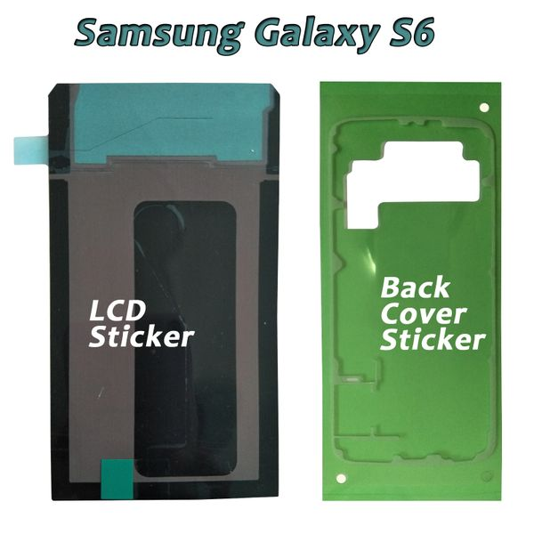 Samsung Galaxy S6, S6Edge Adhesive Sticker for Back cover and LCD Display