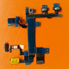 Apple iPhone 5S Power Mute Volume Button Switch Connector Power Flex Cable