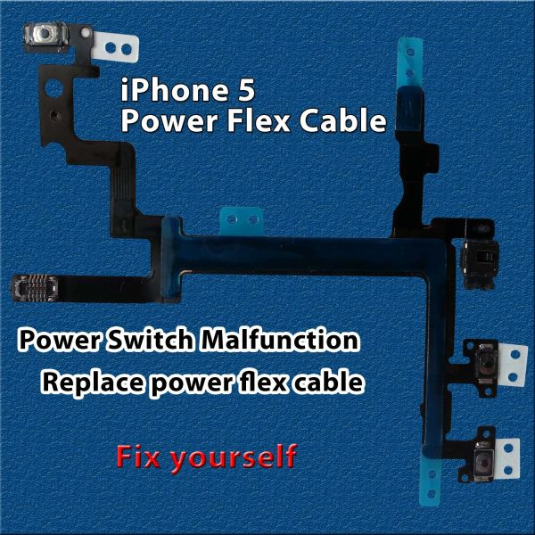 Apple iPhone 5 Power Mute Volume Button Switch Connector Power Flex Cable