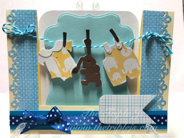 congratulation new baby banner boy and girl handmade cards