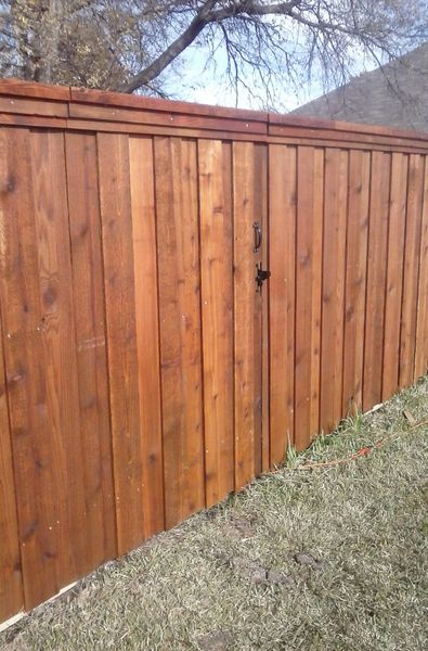 E Pre Stained All Cedar Fence Don Goins Fencing