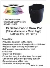 15 Gallon Fabric Grow Pot - Wholesale Lot of Fifty (50)