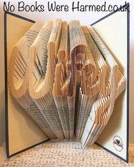 """Wifey"" : : Hand folded, Non cut book art : : Wedding, Anniversary, wife"