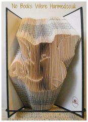 Pig's Head : : Hand folded book art