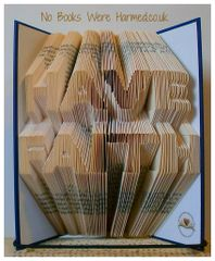 "READY TO POST ""HAVE FAITH"" : Hand folded, non cut book art"