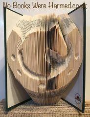 Horse's Head in Horseshoe : : Hand folded book art