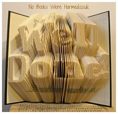 READY TO POST Well Done! : : Hand folded, non cut book art : : Congratulations, award, achievement