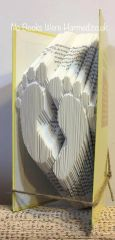 Baby feet : : Hand folded, never cut book art : : Christening, maternity, announcement gift