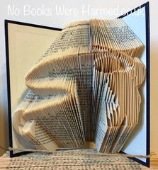 """On The Fly"" : : Fisherman, Angler : : wildlife, countryside : : Hand folded, never cut book art"