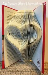 Stunning, concave love heart : : Love token, wedding, bride & groom, house-warming family or friend gift : : NO CUT hand folded book art ♥