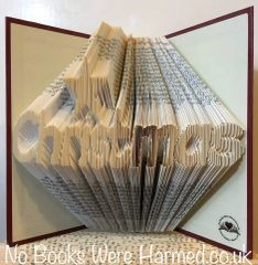 READY TO POST Christmas with star over the i : : Hand folded book art