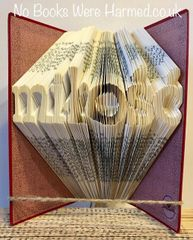 """Love"" written in Polish : : miłość : : Hand folded, never cut book art"