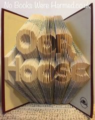 "READY TO POST ""Oor Hoose"" : : Hand folded, non cut book art"