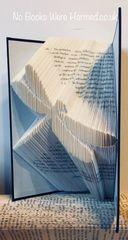 Dragonfly : : Hand folded, never cut : : alternative, fantasy, book art