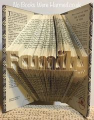 "Mini ""Family"" : : Hand folded, never cut book art"