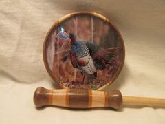 TURKEY PICTURE GLASS POT CALL