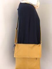 Italian Leather Crossbody Bag - Mustard L131